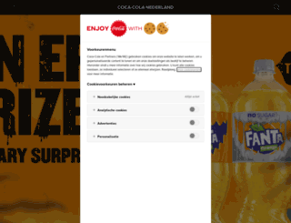 cocacola.nl screenshot