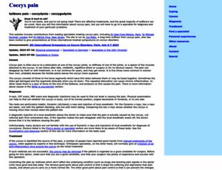 coccyx.org screenshot