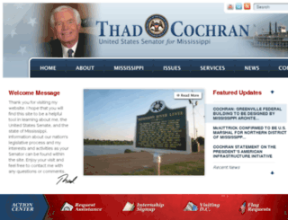 cochran.senate.gov screenshot