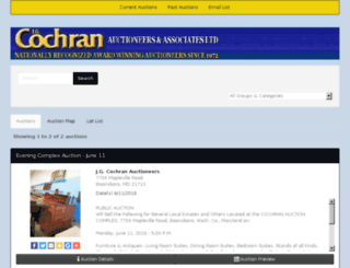 cochranauctions.hibid.com screenshot
