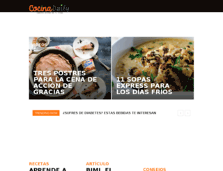 cocinadaily.com screenshot