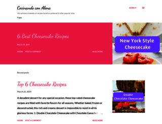 cocinandoconalena.blogspot.sk screenshot