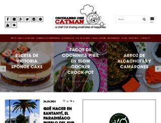 cocinandoconcatman.com screenshot