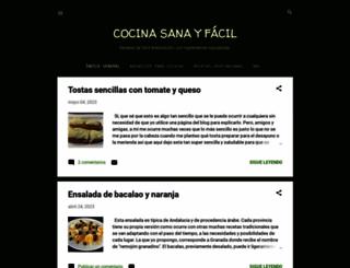 cocinasanayfacil-ruqui.blogspot.com screenshot