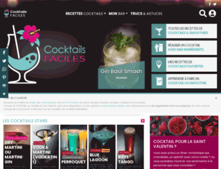 cocktails-faciles.fr screenshot