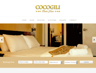 cocogilibeachhouse.com screenshot