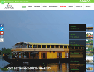 cocohouseboatskerala.com screenshot