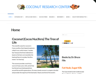 coconutresearchcenter.com screenshot