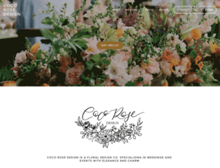 cocorosedesign.com screenshot