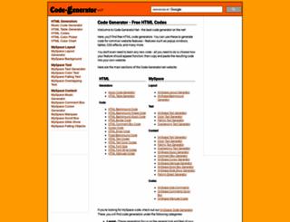 code-generator.net screenshot