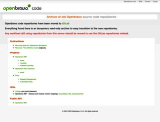 code.openbravo.com screenshot