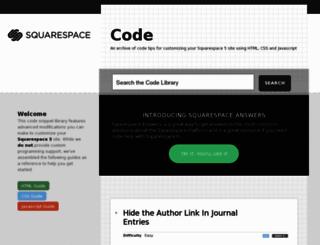 code.squarespace.com screenshot