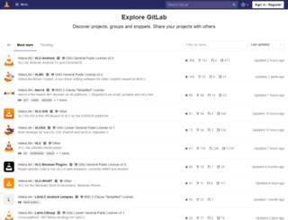 code.videolan.org screenshot