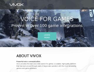 code.vivox.com screenshot