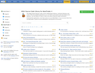 Access codebase mql4 com  Download trading robots and