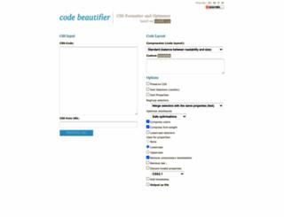 codebeautifier.com screenshot