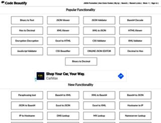 codebeautify.com screenshot