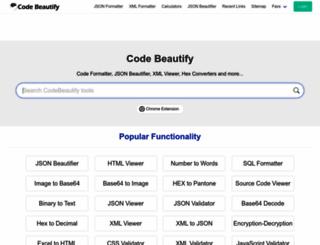 codebeautify.org screenshot