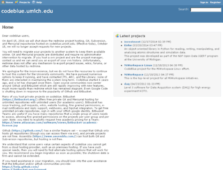 codeblue.umich.edu screenshot