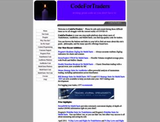 codefortraders.com screenshot