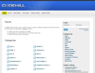 codehillservers.com screenshot