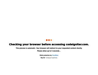 codeigniter.com screenshot