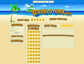 codeloterie.com screenshot