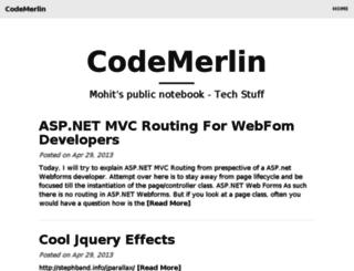codemerlin.com screenshot