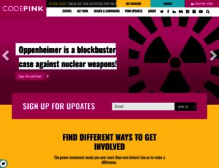 codepink4peace.org screenshot