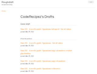 coderecipez.roughdraft.io screenshot