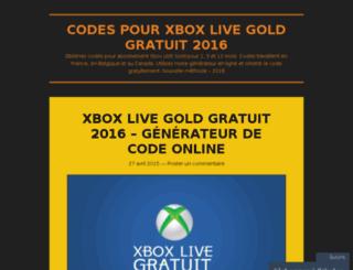 codesxboxlivegoldgratuit.wordpress.com screenshot