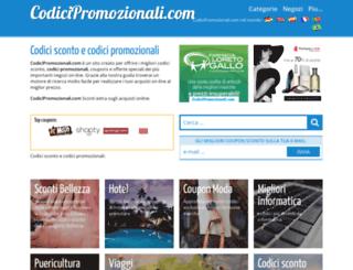 codicipromozionali.com screenshot