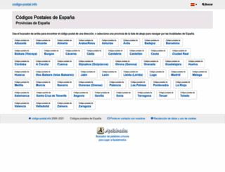 codigo-postal.info screenshot