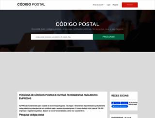 codigopostal.ciberforma.pt screenshot