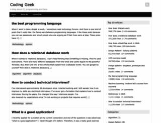 coding-geek.com screenshot