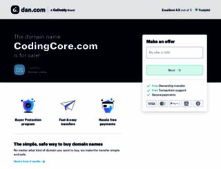 codingcore.com screenshot