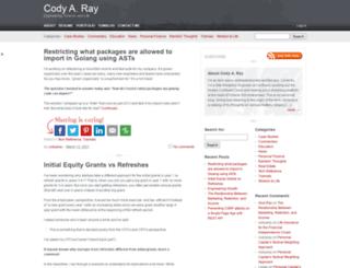 codyaray.com screenshot