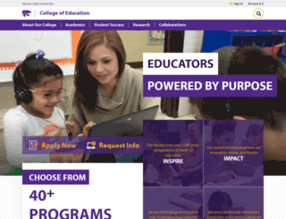 coe.ksu.edu screenshot