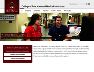 coehp.uark.edu screenshot