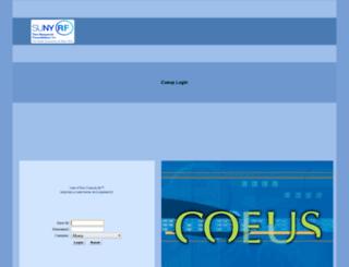 coeus.buffalo.edu screenshot