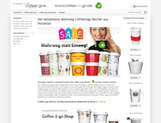 coffee-2-go.de screenshot