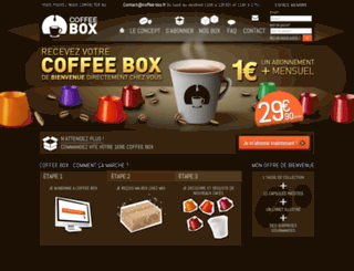 coffee-box.fr screenshot