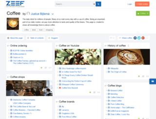 coffee.zeef.com screenshot