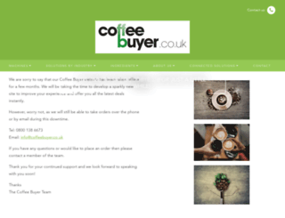 coffeebuyer.co.uk screenshot