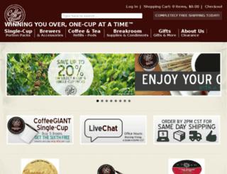 coffeegiant.com screenshot
