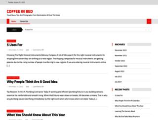 coffeeinbed.info screenshot