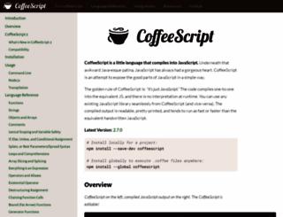 coffeescript.org screenshot
