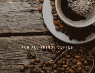coffeeshrine.com.au screenshot
