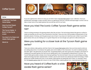 coffeetycoon.net screenshot