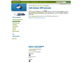 coffs-harbour-nsw.post-code.net.au screenshot